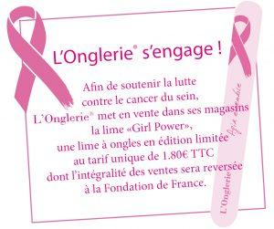 Lime Girl Power : L'Onglerie s'engage contre le cancer du sein !